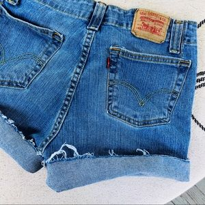 LEVI 525 VINTAGE DENIM CUTOFF SHORTS